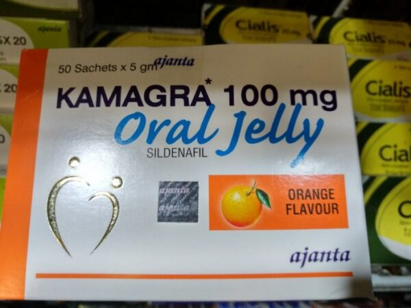 kamagra jelly 100 mg - box containing 50 sachets